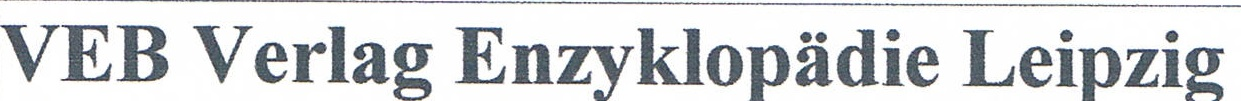 VEB Verlag Enzyklopädie Leipzig