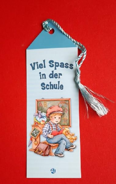 "Lesezeichen ""Schulanfang"" Junge"