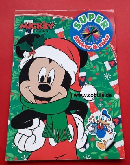 Disney Mal- und Stickerbuch Weihnachten