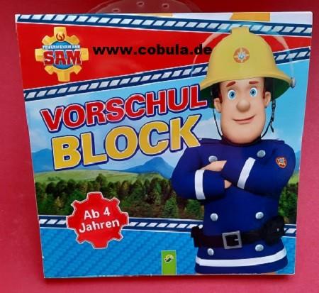 Feuerwehrmann Sam Vorschulblock (ab 4 Jahre)