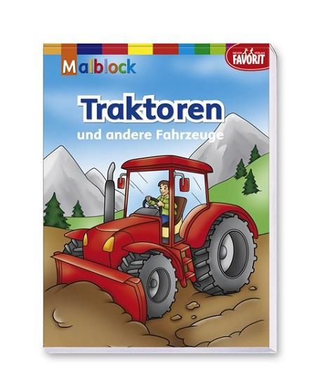 Malblock Traktoren und andere Fahrzeuge