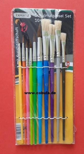 Schulmalpinsel Set 10-teilig