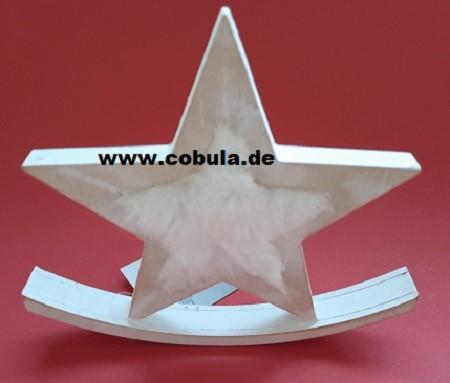 Holzschaukel Stern mit Webpelz 20cm