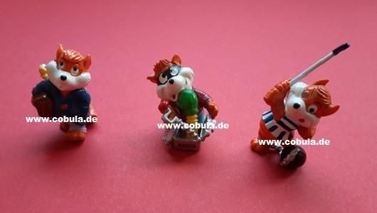 Ü-Ei Figuren Überraschungseier, Fuchs, 3 Figuren (ab 3 Jahre)