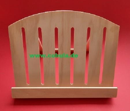 Holz Buchständer 28 x 22 x 4,5cm