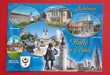 Halle Postkarten