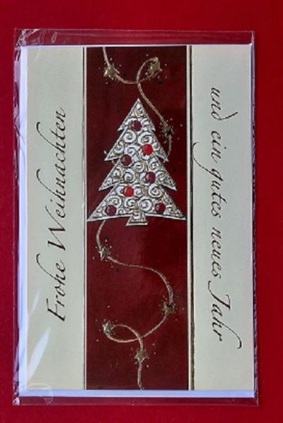 Weihnachtskarte mit Umschlag