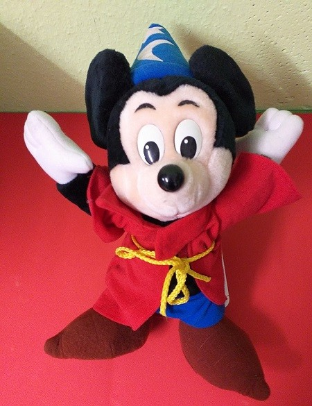 Micky Mouse Puppe als Zauberer 35cm