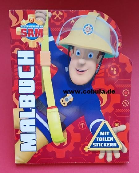 Feuerwehrmann Sam Malbuch mit Stickern (ab 4 Jahre)