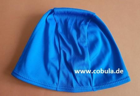 Badekappe Textil für Schulkinder Farbe Blau