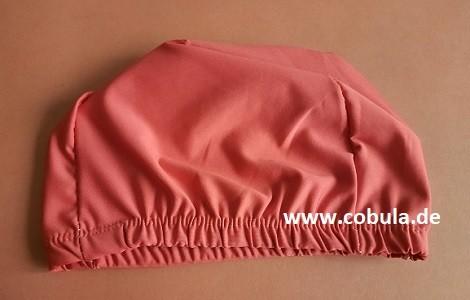 Badekappe Textil für Schulkinder Farbe Rot