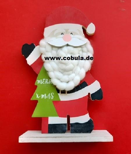 Weihnachtsfigurständer mit Wolle