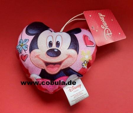 Kissen herzform 15 x 15cm Micky Mouse