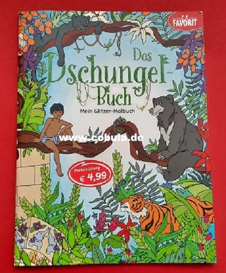 Das Dschungelbuch mein Glitzer-Malbuch (ab 3 Jahre)