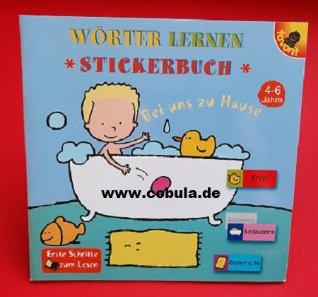 Wörter Lernen Stickerbuch (ab 4 Jahre)