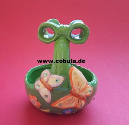 Osterkörbchen grün Keramik