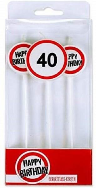 BIRTHDAY FUN Stabkerzen 3er 40