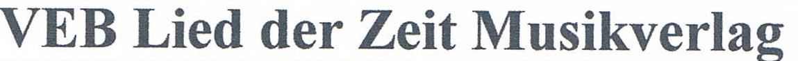 VEB Deutscher Verlag für Musik Leipzig
